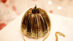 LV The Kusama Pumpkin Minaudiere Jewel Bag